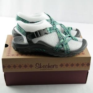Skechers Reggae Loopy Sandals Sz 5.5 Mint Green